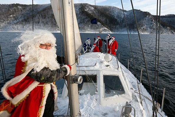 Santas on his way with your new boat